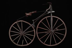 Exant second generation velocipede, circa 1868 By tetedelacourse (Velocipede Michaux-1) [CC BY-SA 2.0 (http://creativecommons.org/licenses/by-sa/2.0) or CC BY-SA 2.0 (http://creativecommons.org/licenses/by-sa/2.0)], via Wikimedia Commons