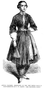 Amelia Bloomer, proponent of a new style, Image scan by Philip V. Allingham