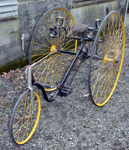 Plectocycle tricycle, 1884. Courtesy of oldbike.eu.