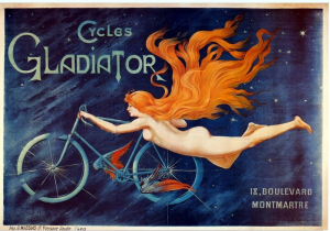 Bicycle poster, circa 1895. Via Wikimedia Commons.