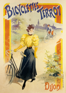 Advertisement for Bicyclettes Terrot shows a different ideal. Lucien Baylac, via Wikimedia Commons