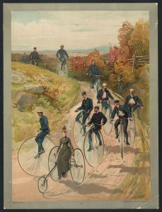 Bicycling, c. 1887