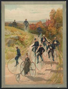 Bicycling, c. 1887